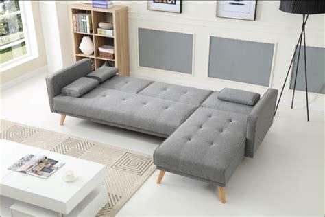 york corner sofa bed  lounge light grey