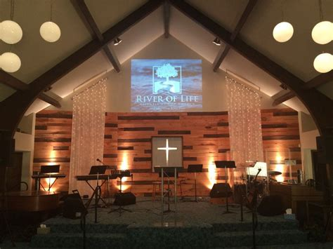 Church Stage Backdrop by Pallet And Lights Stage Backdrop Church Stage Design