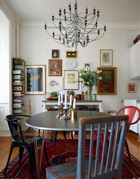 bohemian modern style eclectic dining