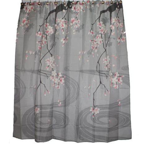 traditional japanese cherry blossom art shower curtain