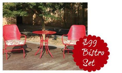 walmart deal woodridge outdoor bistro set 99