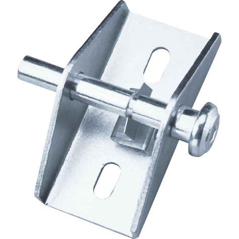 home depot sliding glass door lock prime line zinc push pull sliding patio door lock u 9853