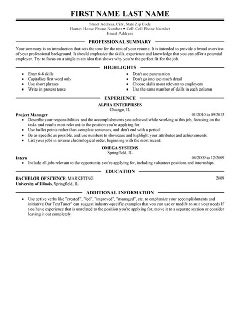 A Chronological Resume Groups Information By Skills And Accomplishments by Executive Resume Template For Microsoft Word Livecareer