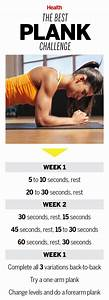 Plank Exercise Time Chart Pin On Fitness Health