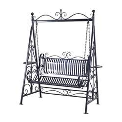 outsunny cast iron swing chair