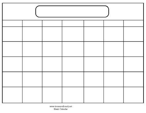 Calender Template Blank Calendar Template When Printing Choose Landscape