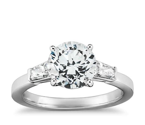 tapered brilliant baguette diamond engagement ring