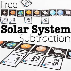 Free Printable Solar System Subtraction Activity ...