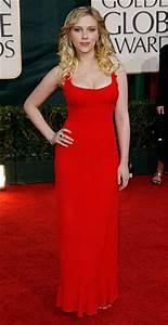 Scarlett Johansson Red Formal Dress at 2006 Golden Globe ...