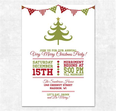 printable christmas invitations items similar to printable christmas invitation holiday