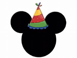 Mickey and Minnie Heads with Party Hats. | Mickey Ears ...