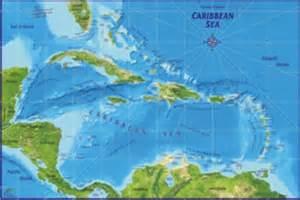 Caribbean Sea Islands Map