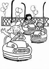 Coloring Park Pages Popular Amusement sketch template