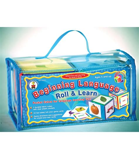 beginning language roll learn pocket cubes for language learning fu beginning language roll learn pocket cubes board
