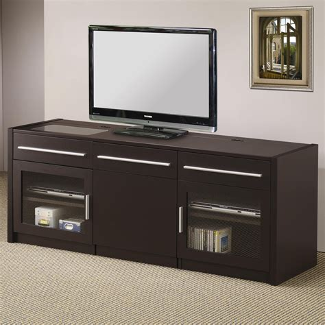 Vanity Chair With Wheels by Tv Stands Contemporary Tv Console With Hidden Mobile
