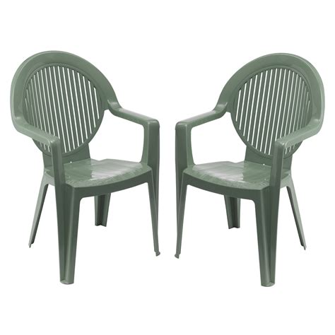 soldes lot 2 fauteuils fidji grosfillex vert tous