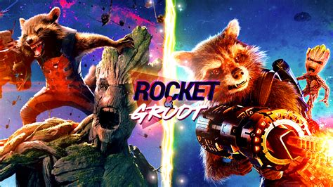 Rocket And Groot Wallpaper (4k) By Leafpenguins On Deviantart