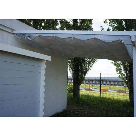 toile d ombrage pour toit terrasse 3x5m coloris 233 cru