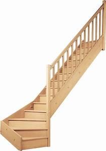 Escalier Quart Tournant Bas : escalier quart tournant bas en sapin bricoman les ~ Dailycaller-alerts.com Idées de Décoration