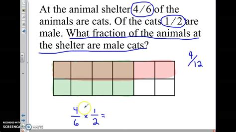 multiplying fractions word problems nfb youtube