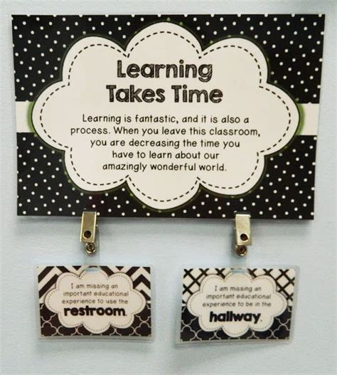 Student Bathroom Pass Ideas by The Bathroom Pass 5th Grade Messages Alternative To