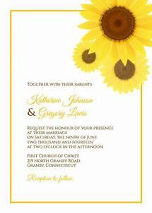 free pdf download sunflower wedding invitation template With wedding invitation templates with sunflowers