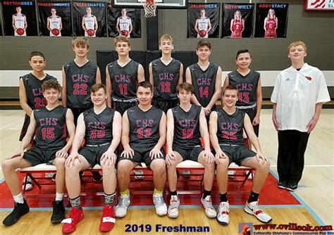 chs basketball team  january
