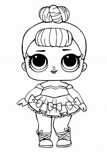 Lol Coloring Doll Pages Miss Glitter