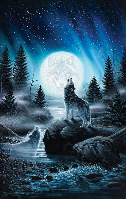 Lobo Uivando Iphone Wolf Howling Lua 3diphonewallpaper