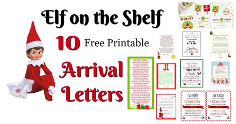 elf   shelf ideas  arrival   printables