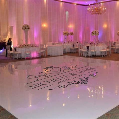 wedding dance floor decal wedding floor monogram vinyl floor sticker party decor custom