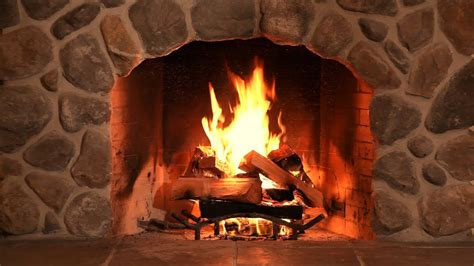 tv fireplace with relaxing crackling sounds of wood