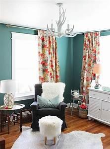 1001 idees pour une chambre bleu canard petrole et paon With chambre bébé design avec parfum oriental fleuri