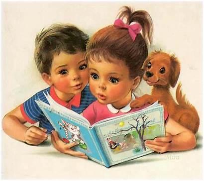 Reading Children Animated Scenery