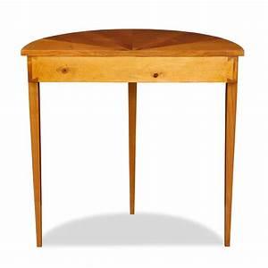 Günstige Vintage Möbel : beistelltisch halbrund holz ~ Indierocktalk.com Haus und Dekorationen