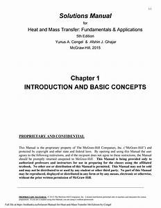 Solution Manual For Heat And Mass Transfer 5th Edition By