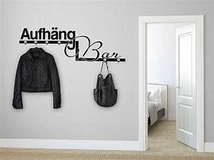 Garderobe Flur : wandtattoo garderobe aufh ngbar mit wandhaken wandtattoo de ~ Pilothousefishingboats.com Haus und Dekorationen