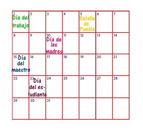 Secuencia de sucesos en el tiempo: día, semana y mes ...
