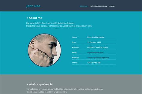 resume website psd mockup creative vip