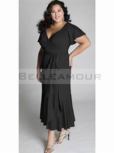 robe de soiree grande taille longue mousseline col v With robe noire grande taille