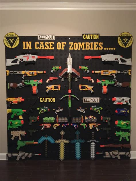 A wide variety of nerf gun games options are available to you, such as plastic type. Nerf storage ideas! - A girl and a glue gun