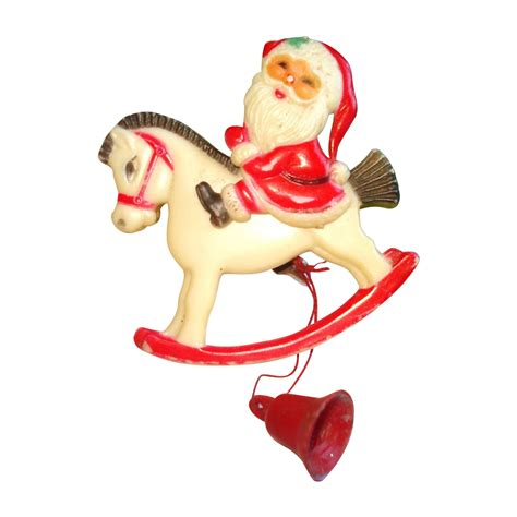 vintage 1930s celluloid brooch santa claus movable