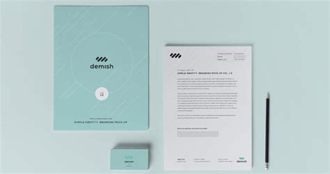 stationery branding mock  vol   psd mock
