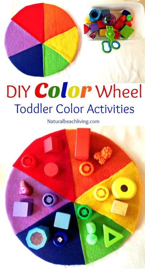and easy colors easy to make diy color activity for preschool toddlers