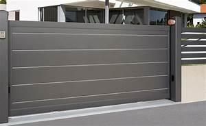 Portail Alu En Kit : portail coulissant en aluminium sib mod le senera avec ~ Edinachiropracticcenter.com Idées de Décoration