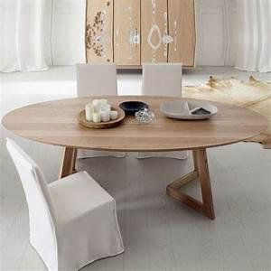 Table Ovale Design : table design ovale en bois massif toledo seven 4 ~ Teatrodelosmanantiales.com Idées de Décoration
