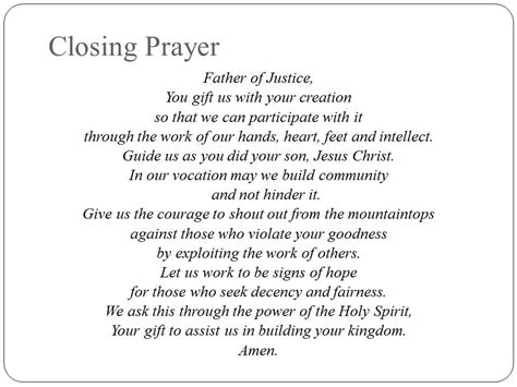 cloaing prayer for christmas progeamme session 4 closing prayer