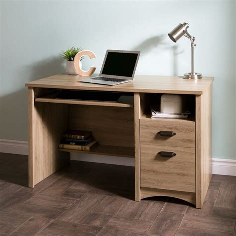 oak computer desk with drawers south shore gascony 2 drawers wood computer desk in rustic