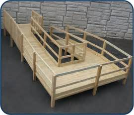 Wood Handicap Wheelchair Ramps