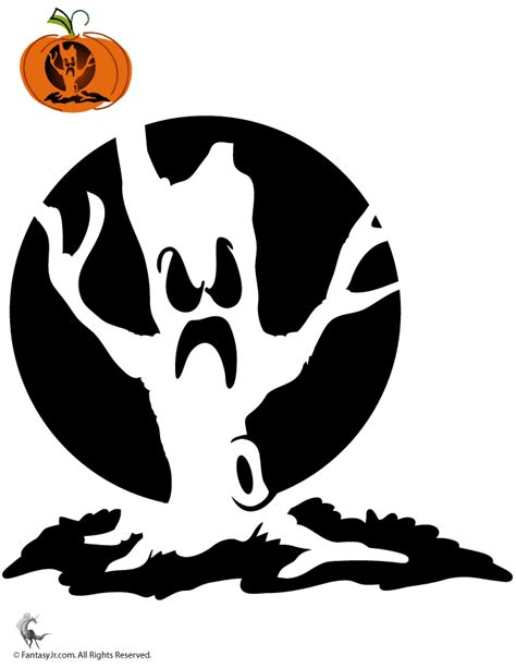 pumpkin stencils  halloween haunted tree pumpkin